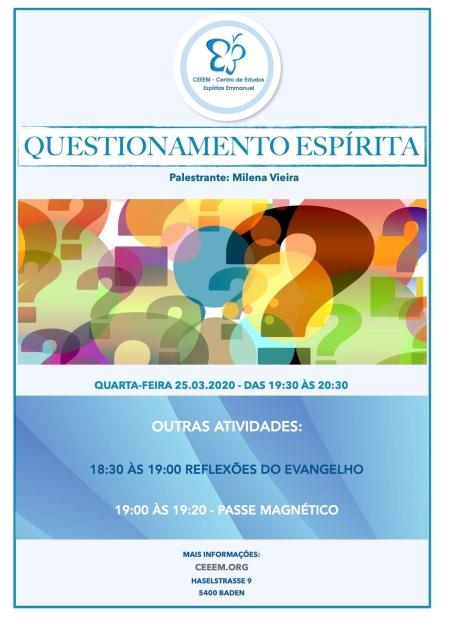 Questionamento Espirita