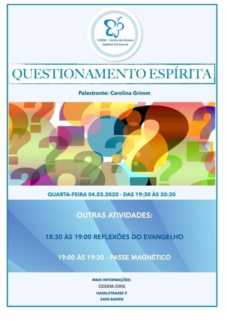 Questionamento Espirita 01